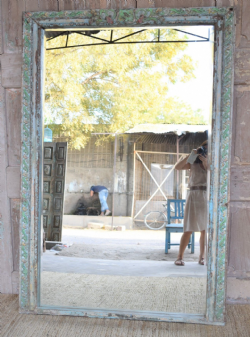 Bevelled Doorway Mirror, Merchant's Haveli, Gujarat circa 1890